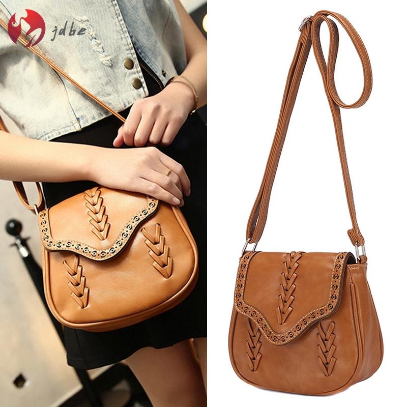 1 Pcs Women Lady Girl Shoulder Crossbody Bag Weaving PU Leather for Mobile Phone