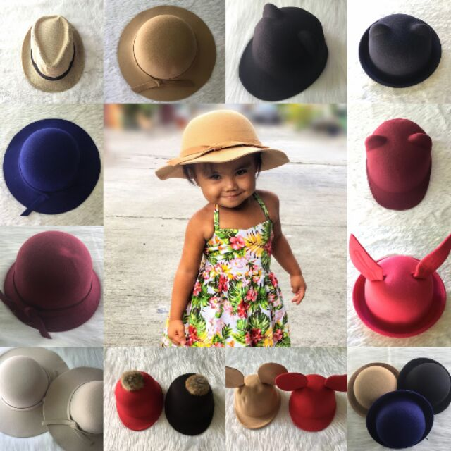 279ed3bc449047 Cat Ear Bowler Hat for Kids/Women | Shopee Philippines