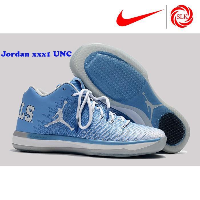 newest collection 2da69 ea571 SLK☆ Nike Air Jordan XXX1 Low UNC University Blue White-College Navy  Basketball shoes   Shopee Philippines