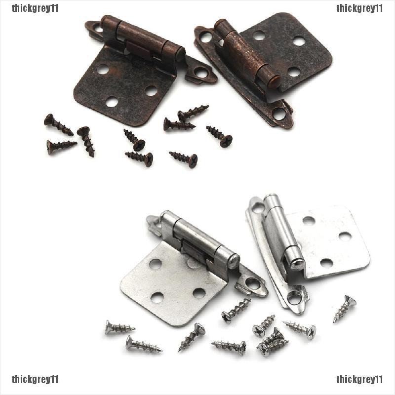 Thic Rey 1 Pair Vintage Kitchen Cabinet Door Self Closing Hinges Stay Flush O Shopee Philippines