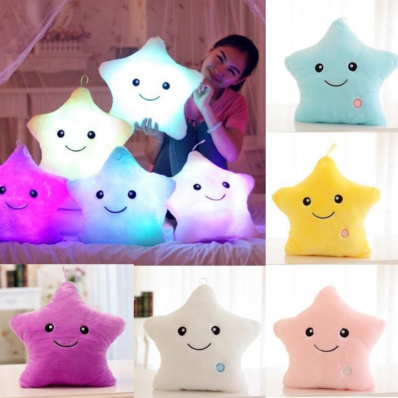 Led Star Cushion Pillow Unique Star Shaped Soft Cushion Cushion Plush Pillow Toy Decoration Gifts Nursery Bedding Jl Si