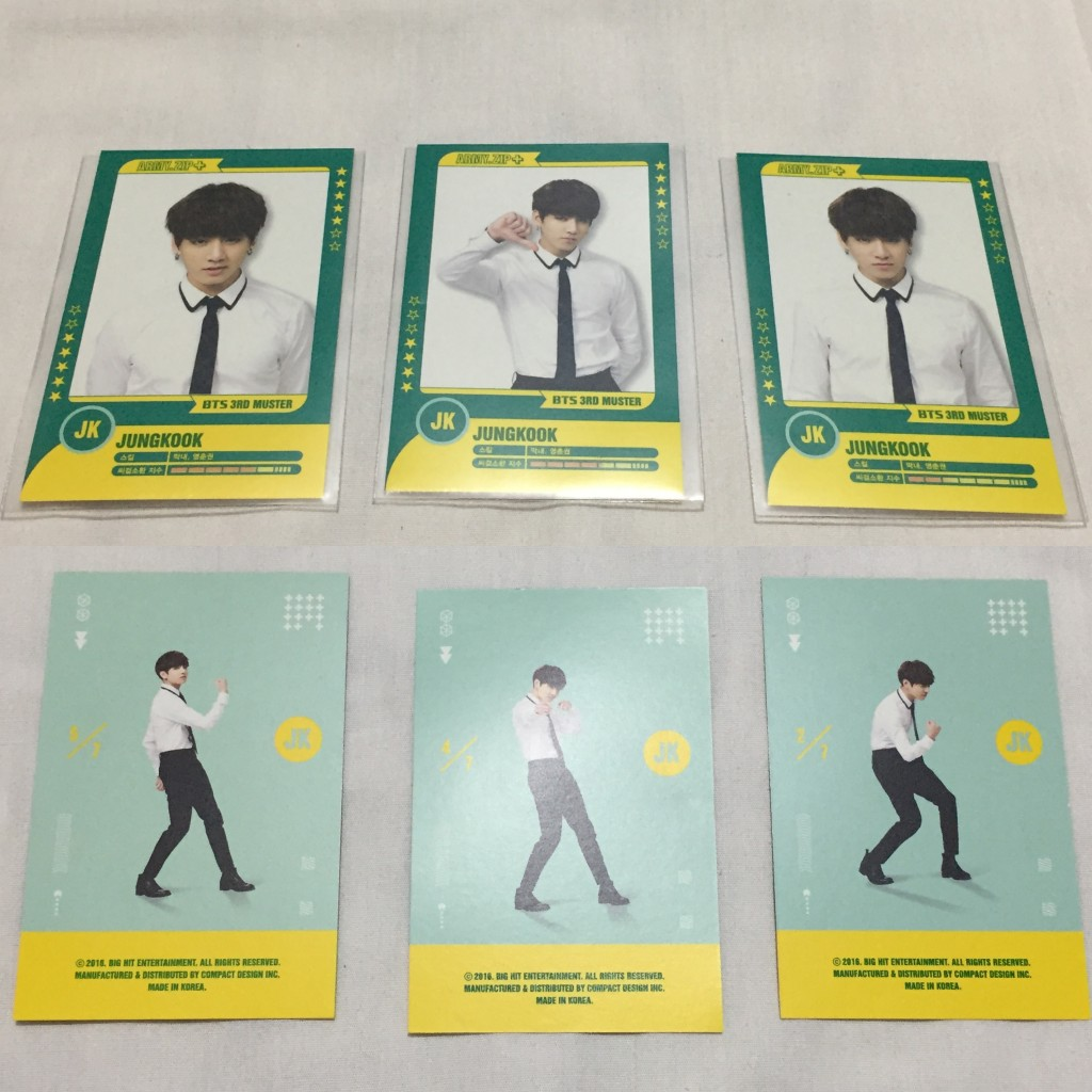 BTS Official Jungkook 3rd Muster Player Card (#2,6)