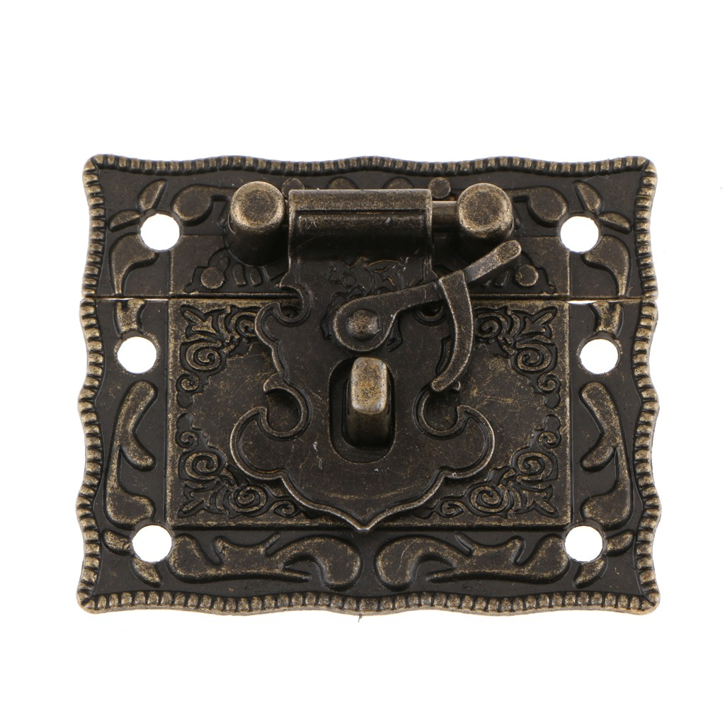 Picture of: Antique Bronze Jewelry Wood Box Hasp Latch Lock Decorative Hasp Buckle Bolt Shopee Philippines