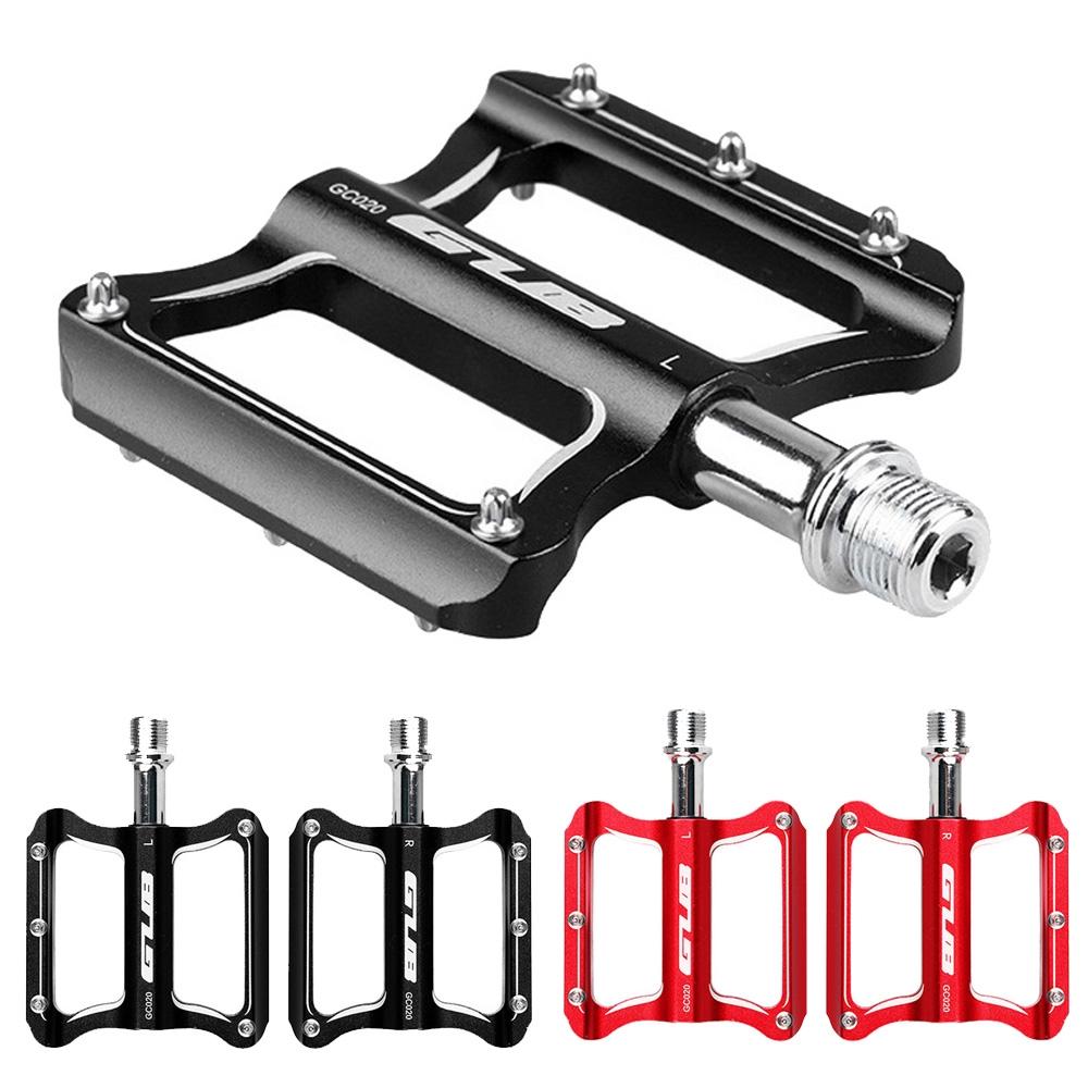 ROCKBROS Bike Aluminum Alloy Pedals Carbon Fiber Sealed Bearing Non-slip Red