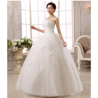 French Simple 2020 Wedding Dress Hepburn New Wedding Gown White Dress Shopee Philippines,Nice Dresses For Wedding Guests