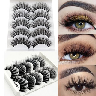 b90bb8aa9eb 5 Pairs Multipack Mink Hair False Eyelashes Wispy Long Natural Eye Lashes