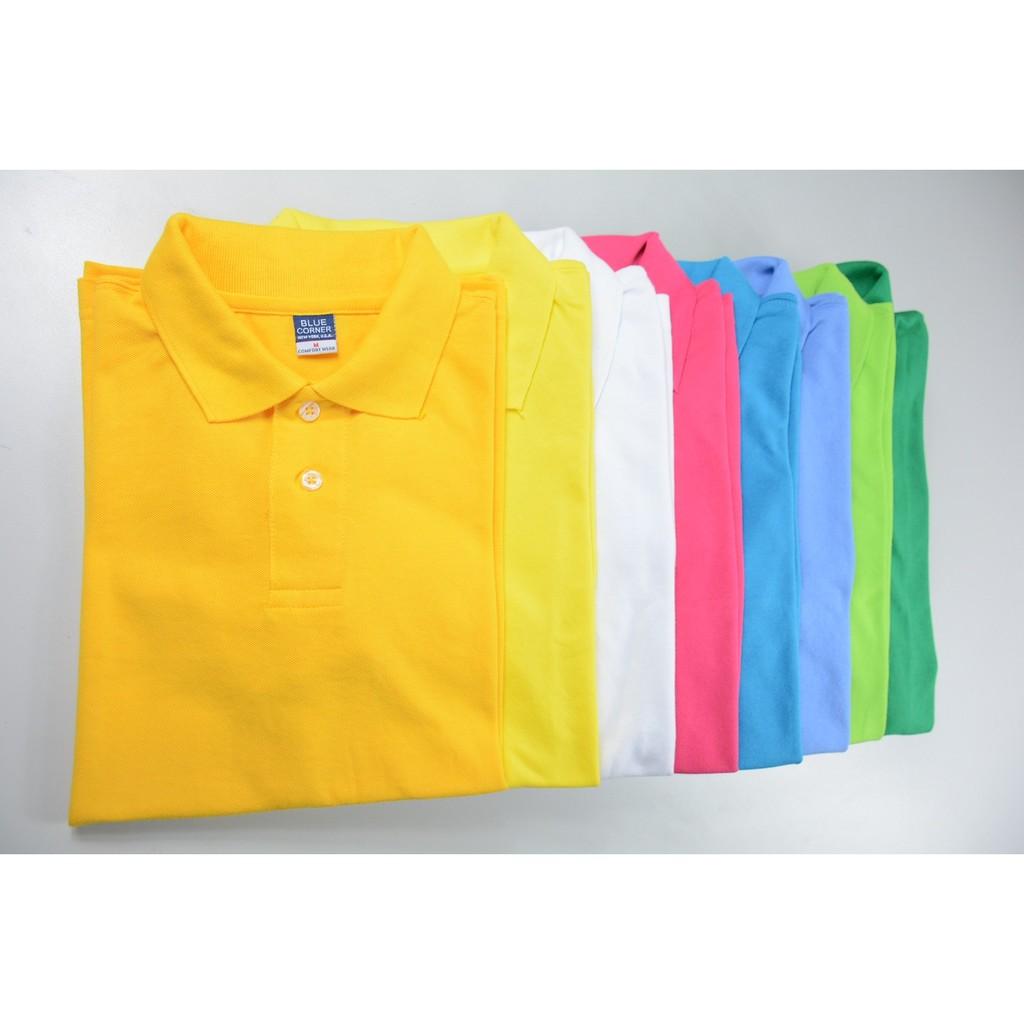 Blue Corner Men S Plain Polo Shirts Dark Color