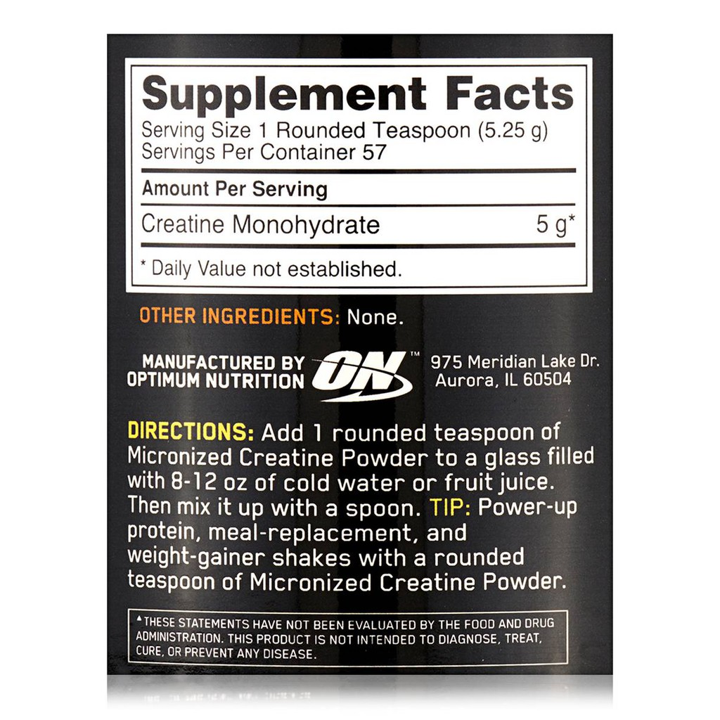 Optimum Nutrition ON Micronized Creatine Monohydrate Powder, Unflavored,  Keto Friendly | Shopee Philippines