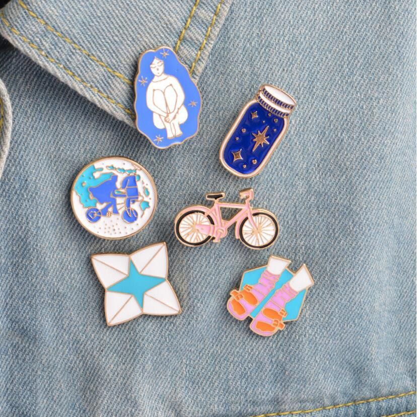 Apparel Sewing & Fabric Badges 1 Pcs Cartoon Sheep Metal Badge Brooch Button Pins Denim Jacket Pin Jewelry Decoration Badge For Clothes Lapel Pins