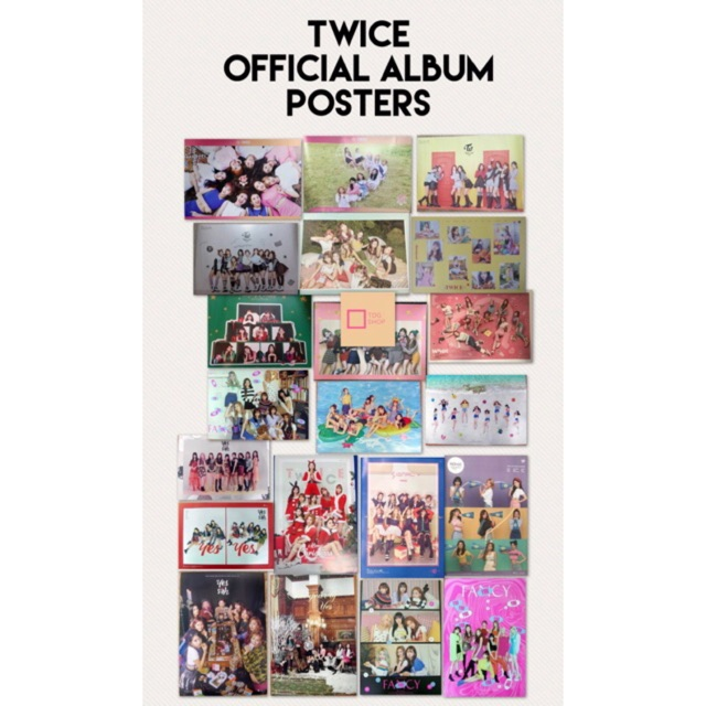 TWICE Official Album Posters (All Eras)