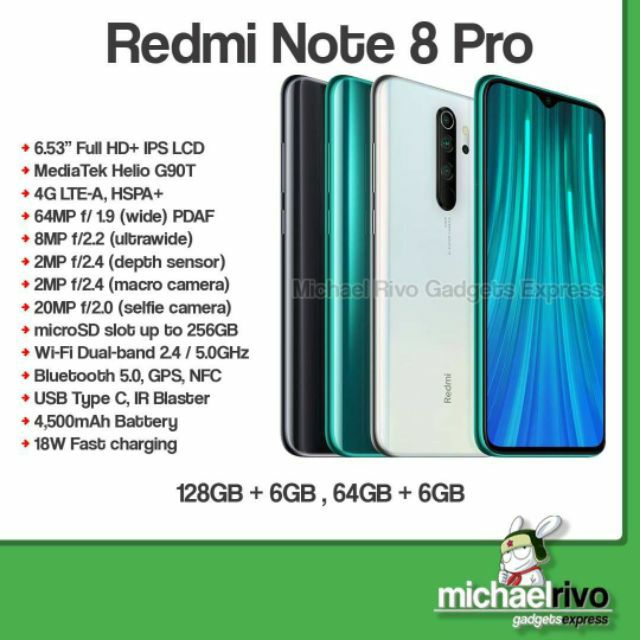 Xiaomi Redmi Note 8 Pro Global Version 64gb And 128gb Global Version Shopee Philippines
