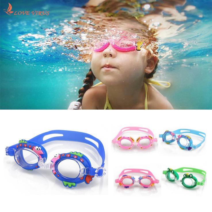 Cartoon Swimming Glasses Kids Children Boys Outdoor Anti Fog Waterproof Summer