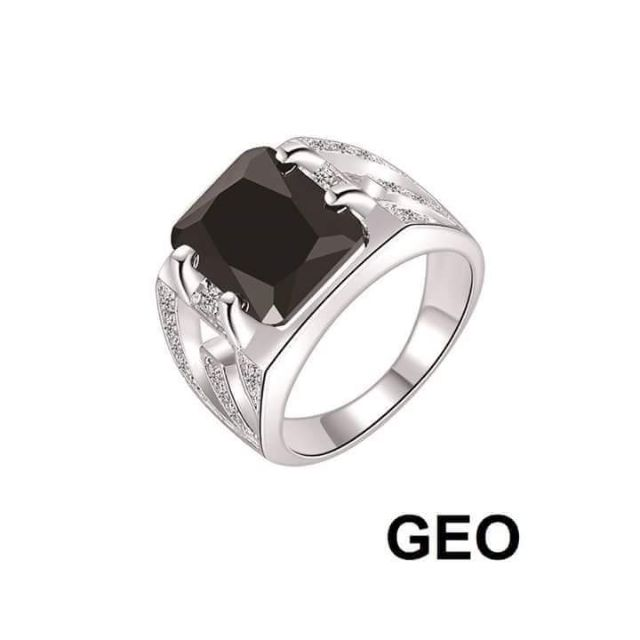 Chen Ashley 92 5 Silver Mens Ring Shopee Philippines