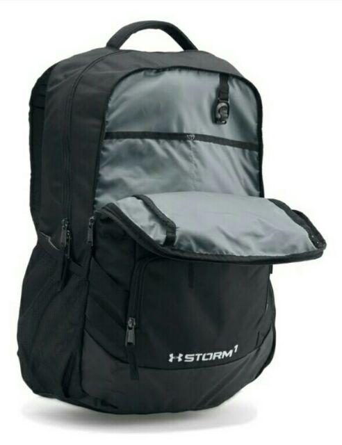36f31fcc9758 Under Armour Black/Steel UA Hustle II Backpack