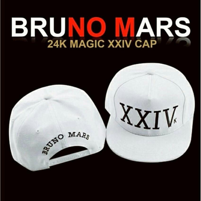 b77c75ca14e25 Bruno Mars 24k Magic XXIV Cap (White)