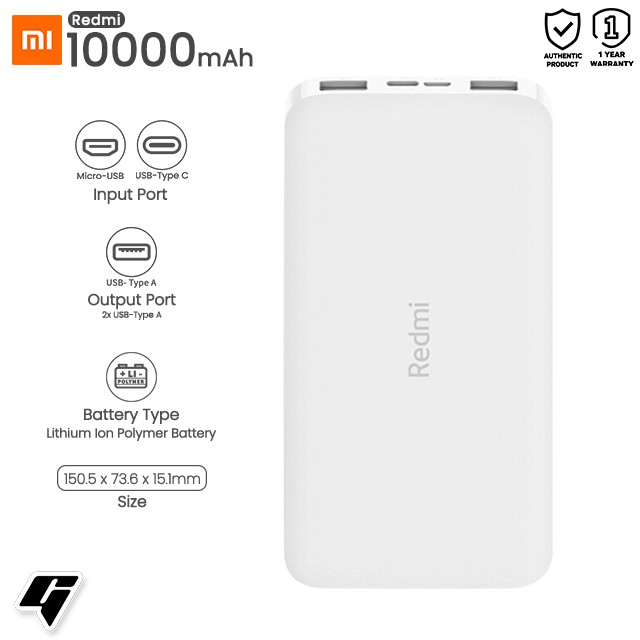 Image result for redmi power bank 10000mah