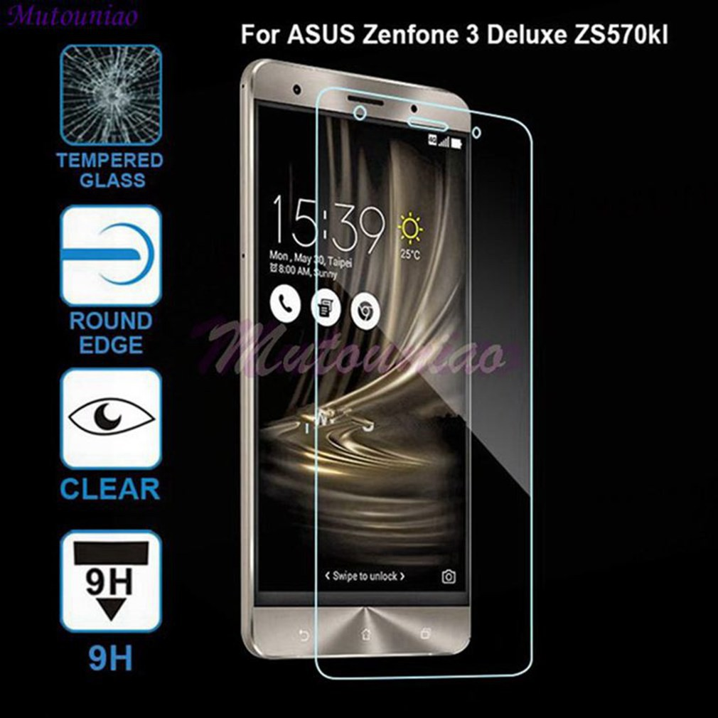 2pcs For Asus Zenfone 3 Deluxe 57 Zs570kl Clear Tempered Glass Screen Protector Shopee Philippines