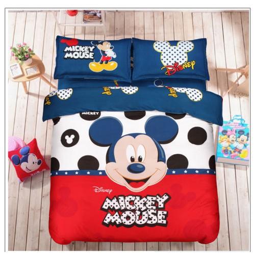 Cartoon Mickey Mouse Minnie Bedding Set Duvet Cover Sheet Pillowcase Bed Sheet Shopee Philippines