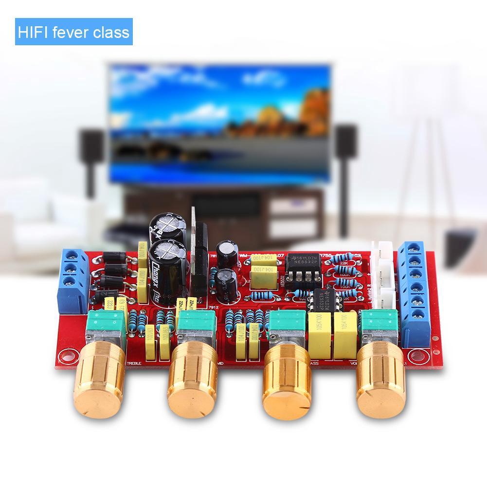 NE5532 Pre-amplifier Preamp Tone Board DIY Treble Alto Bass Volume Control Kits