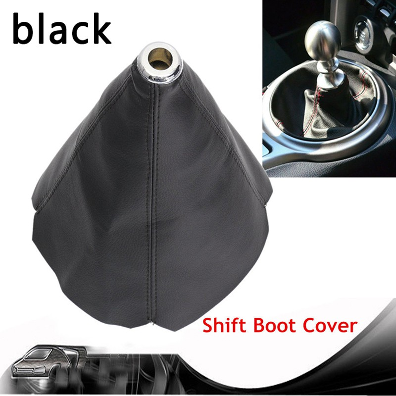 Genuine Leather Car Manual Gear Stick Shift Knob Cover Boot Gaiter Cover