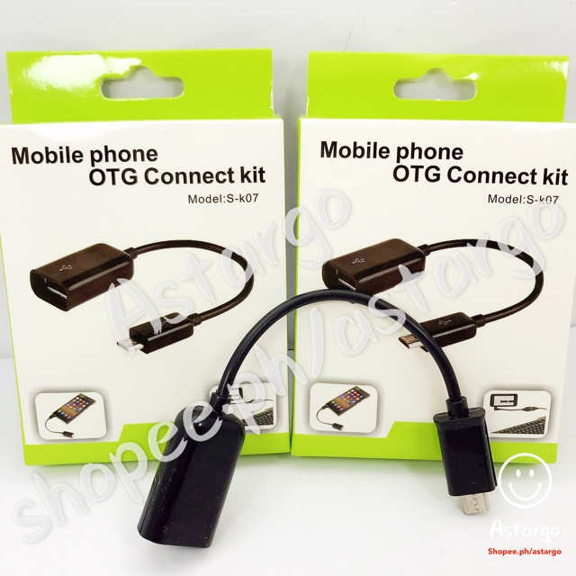 S-K07 phone OTG connect kit cable android micro universal | Shopee Philippines