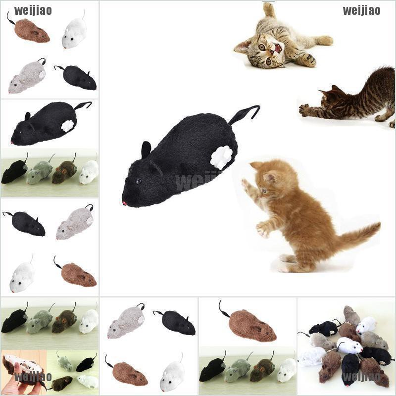 Wind Up Funny Running Mouse Rat Move Tail Cat Kitten Prank Toy Joking Gag GifS*