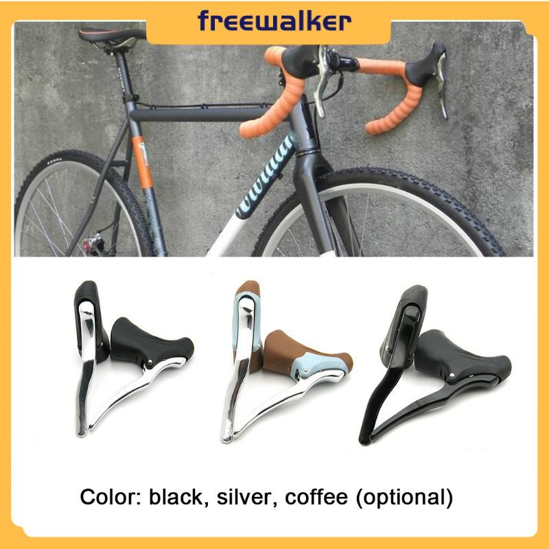 1 Pair Aluminum Alloy Road Bike Drop Bar Brake Levers Bicycle Brake Handle