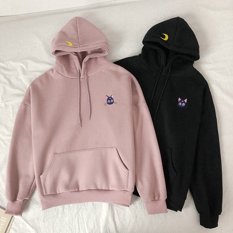 Troll Tree Fashion Korean Casual Sport Sweater Coat Pullover Hood Girls Hoodies Sweatshirt Fashion Hoodies