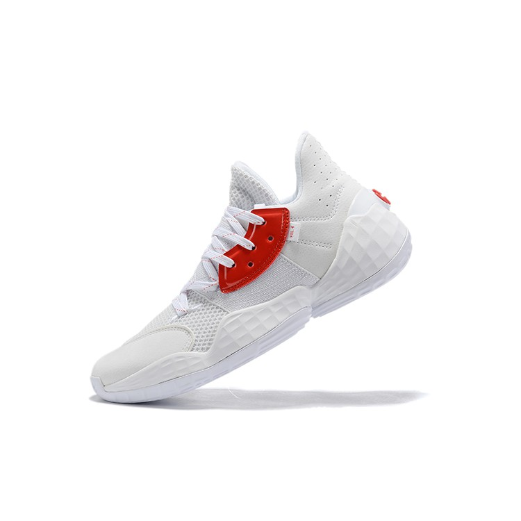 Adidas James Harden Vol.4 Beard Sports Mens Brand Basketball Shoes For WhiteRed