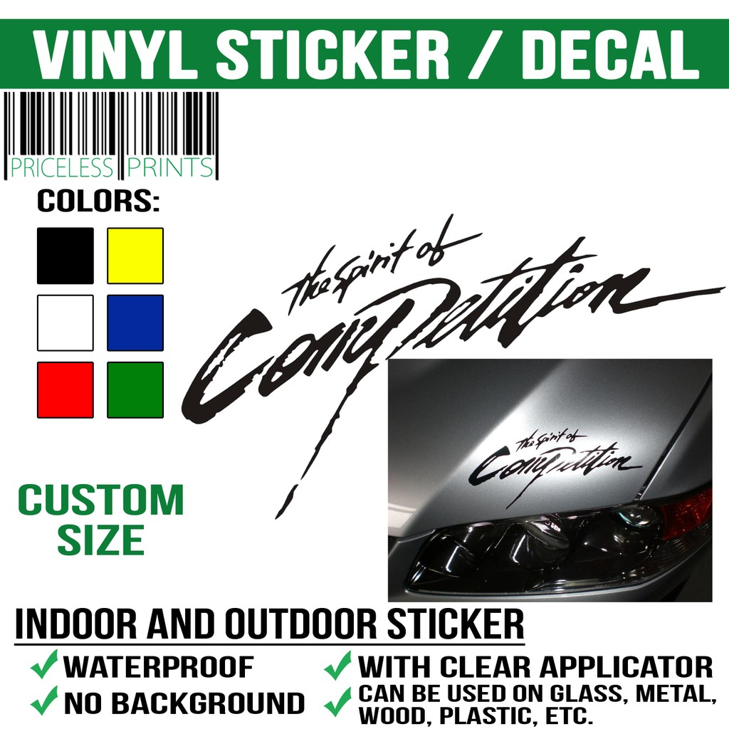 Vinyl car laptop cellphone sticker decal we customize shopee philippines