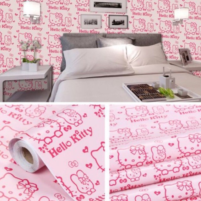 Hello Kitty adhesive wallpaper sticker  Shopee Philippines