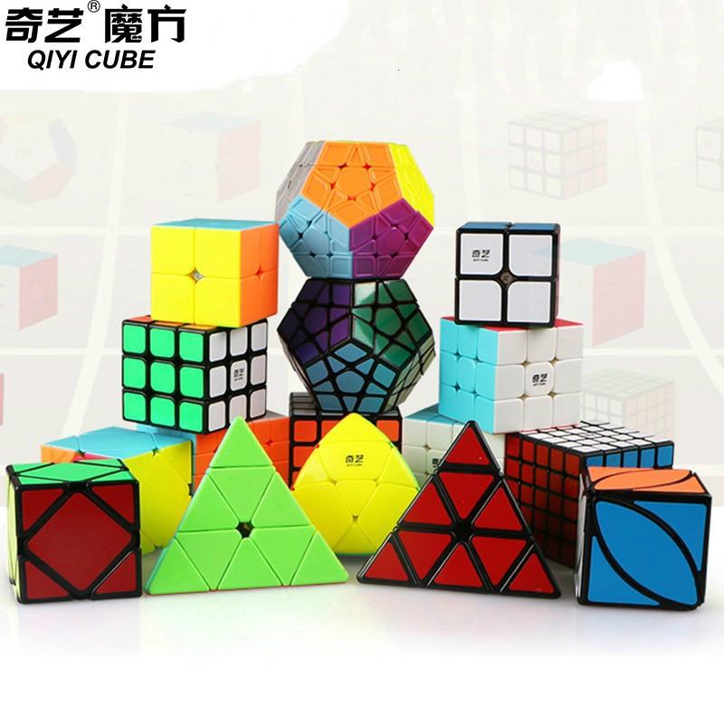 Qiyi Cubes 2x2 3x3 4x4 5x5 stickerless Bright Magic Cubes