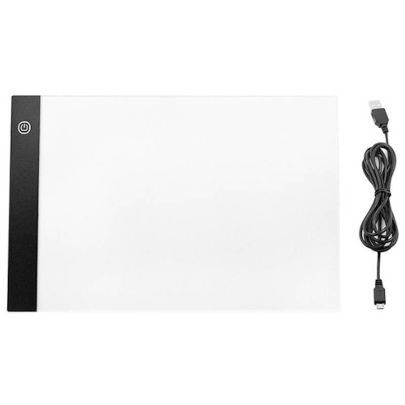 A4 Portable 3mm Thin USB LED Light Box Tracer Dimmable Stencil Drawing Board Pad