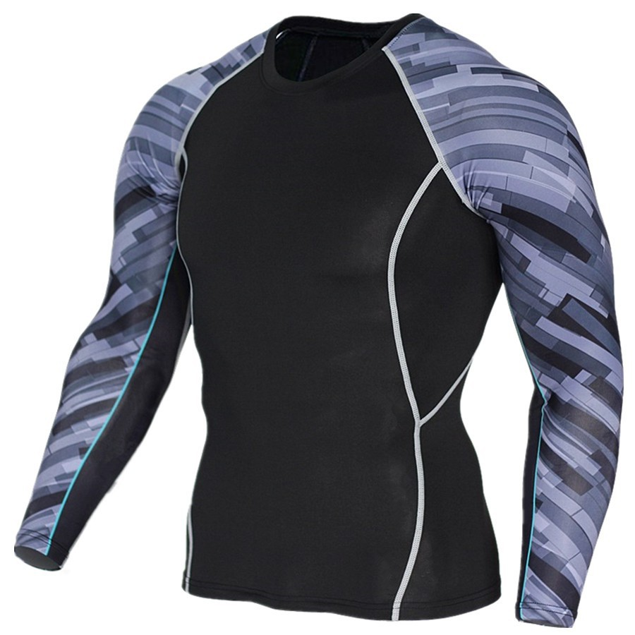 26510e5800d8d Men Long Sleeve Tight GYM Fitness Breathable Quick-drying Clothing T-shirt