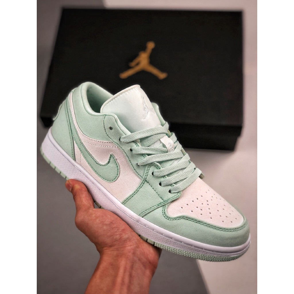 Pulido Monótono Saturar  Original Nike Air Jordan 1 Low Mint Green Sneakers Shoes For Men And Women  Shoes | Shopee Philippines