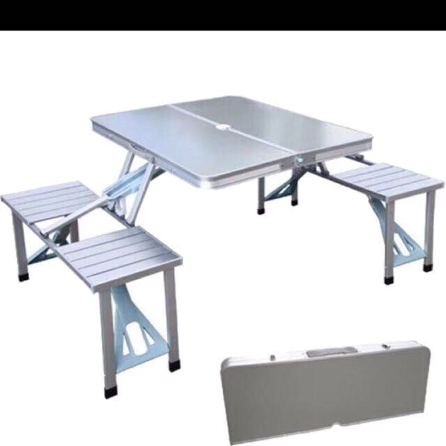 Practical Table Folding Table Outdoor Household Portable Picnic Table And Chair Conjoined Table Shopee Philippines