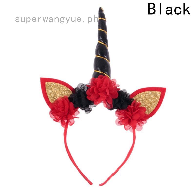 Decorative Magical Unicorn Horn Headband Adult Kids Hairband Novelty Gift