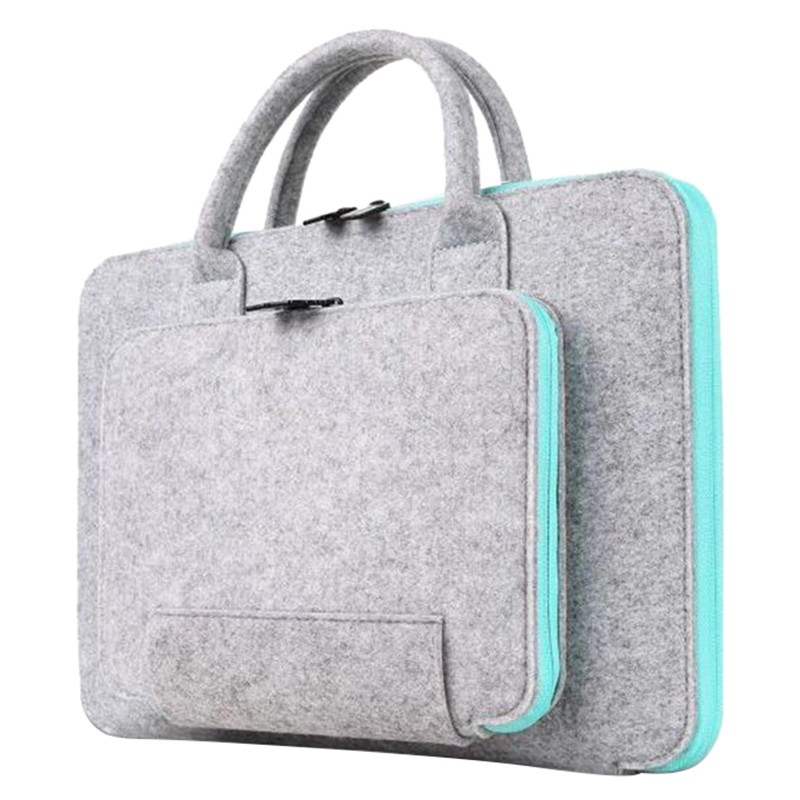 New Felt Universal Laptop Bag Notebook Case Briefcase Handlebag Pouch For Macbook Air Pro Retina Men