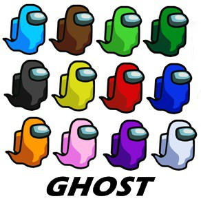 Among Us Stickers Per Set Ghost Among Us Dead Body Shopee Philippines