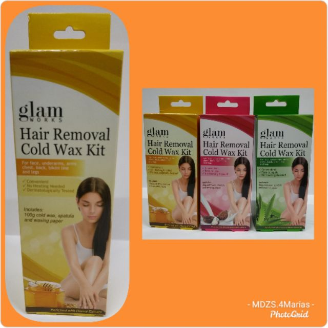 Glamworks Honey Hair Removal Cold Wax Kit Shopee Philippines