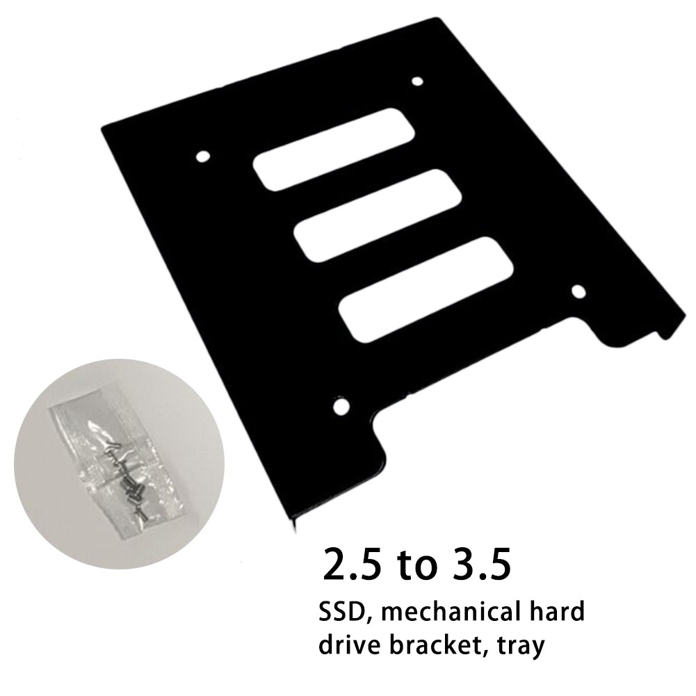 """2.5/"""" to 3.5/"""" Bay SSD Metal Hard Drive HDD Mounting Bracket Adapter Dock//Tray"""