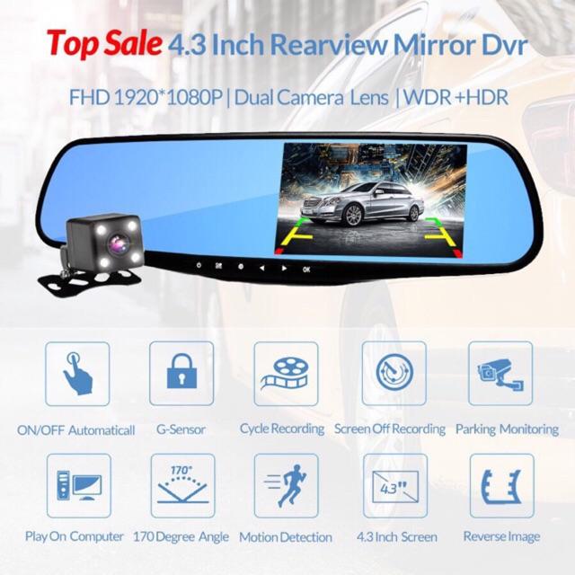 "A-080 5"" 1080P touchscreen dashcam Car DVR Dual Lens | Shopee Philippines"