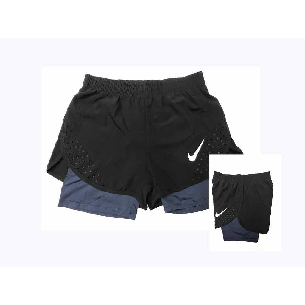 modern style sophisticated technologies best online 2IN1 SUUT SHORTS FITNEE WORKOUT RUNNING SHORTS WITH CYCLING SHORTS FOR  LADIES GYM YOGA SHORTS