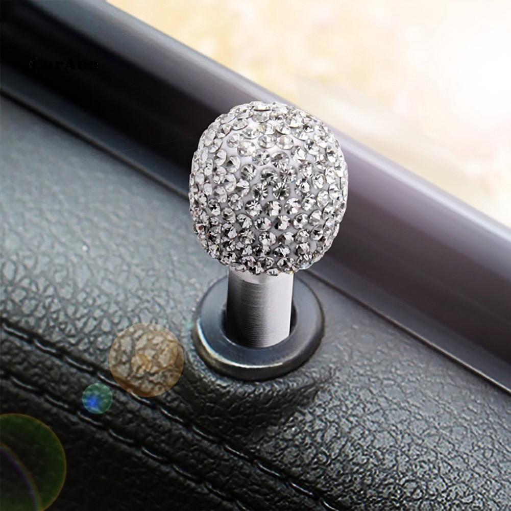 2pcs Rhinestone Car Truck Interior Door Lock Knob Pins Aluminum Alloy Pull Pin