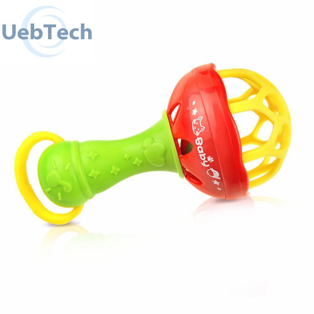 Plastic Baby Kids Bell Ball Toy Rattles Grasping Toy Hand Bell Rattle Gifts UK