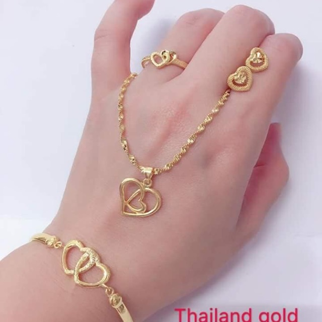 MADE IN THAILAND 14k BANGKOK GOLD LADIES JEWELRY SET | Shopee Philippines