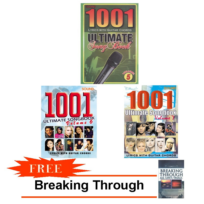 Bundled 1001 Ultimate Songbook Vol 5,6,7 with Free Breaking Through
