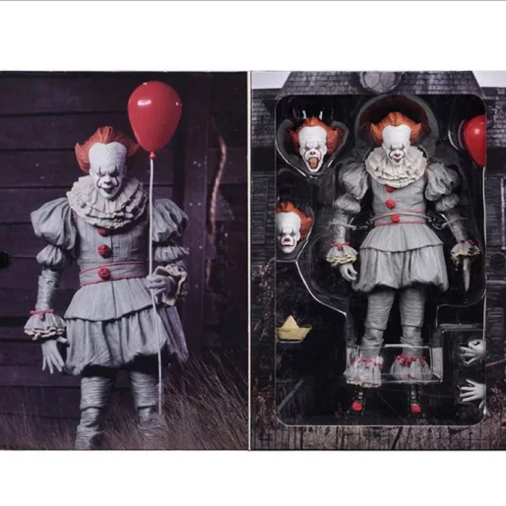 New Neca Stephen King/'s It Pennywise Joker Clown movable PVC Action Figure gifts