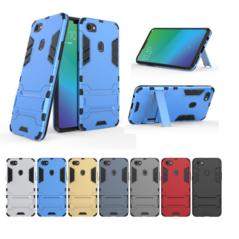 low priced 9c3a9 17ccc OPPO F7 Case, Shockproof Luxury Iron Man Hard phone case
