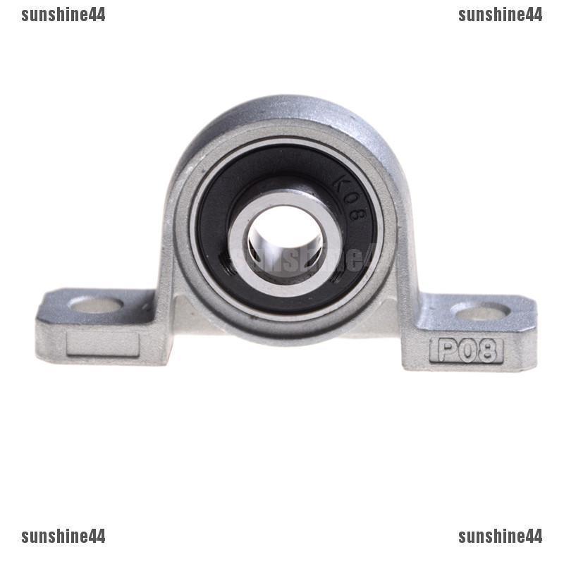 2Pcs Zinc Alloy 12mm Bore Diameter Ball Bearing Pillow Block